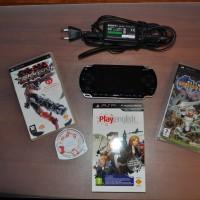 """PSP """"Fat"""" + 3 juegos"""